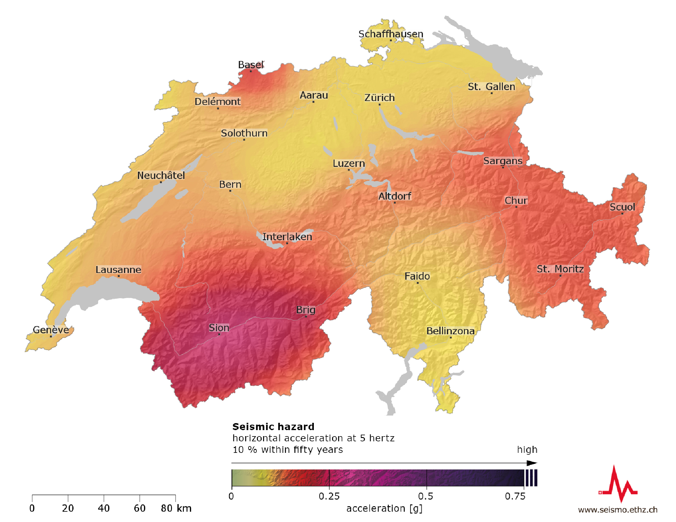SUIhaz15 - the Seismic Hazard Model for Switzerland 2015