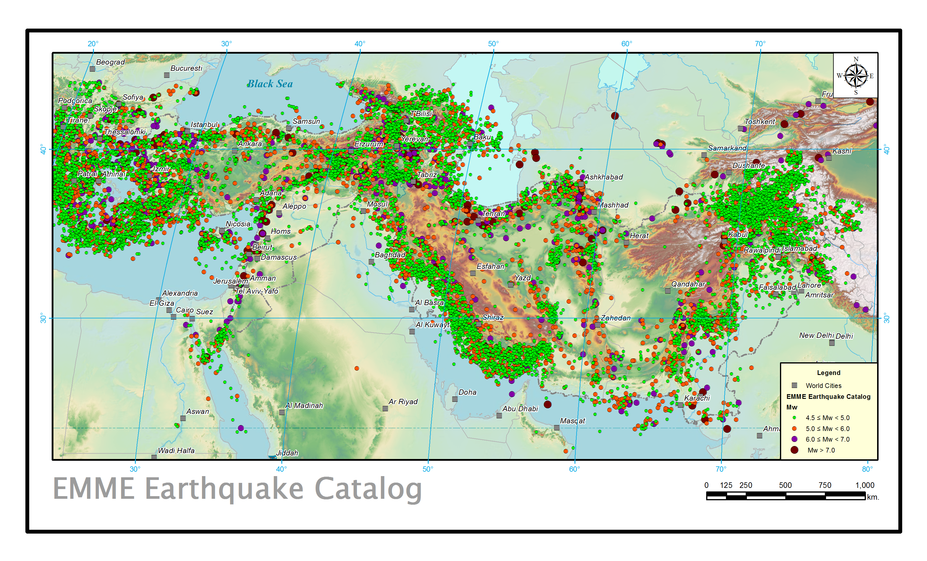 Earthquake Catalogue of the Middle East